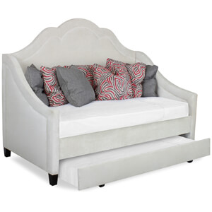 Custom Open Grey Trundle Daybed
